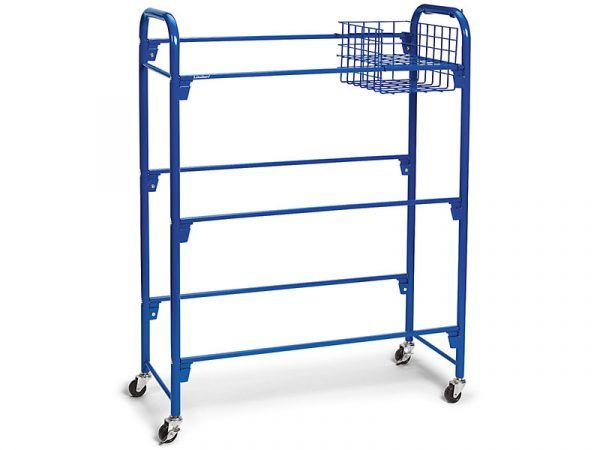 Leveled Library Mobile Storage Cart