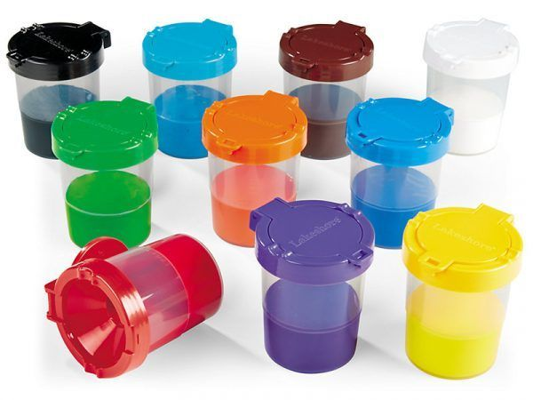 Lakeshore No-Spill Paint Cups