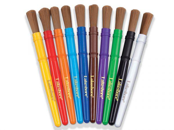 Nylon-Bristle Paintbrushes– Setof10
