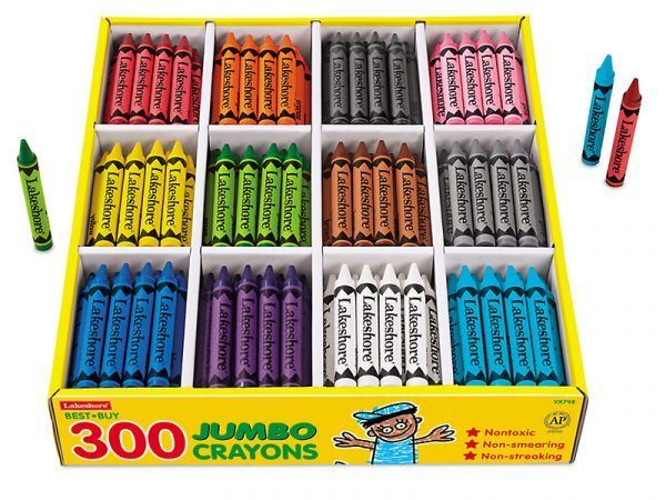 Best-Buy Jumbo Crayons–12-ColorBox